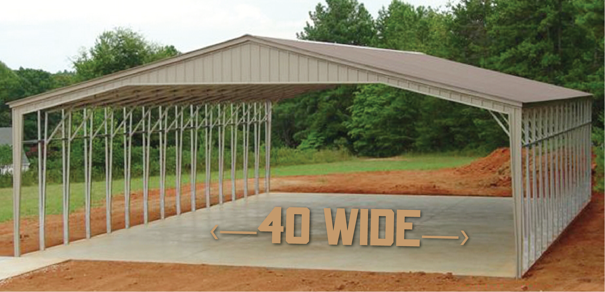 Carolina Carports - 40' Wide Carports