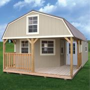 Derksen 0021 Painted deluxe lofted barn cabin thmb