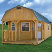Derksen 0031 Treated Deluxe Lofted Barn Cabin thmb