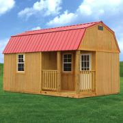 Derksen 0033 Treated Side Lofted Barn Cabin thmb