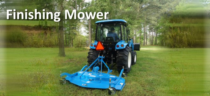 LS Tractor Finishing Mower Attachment